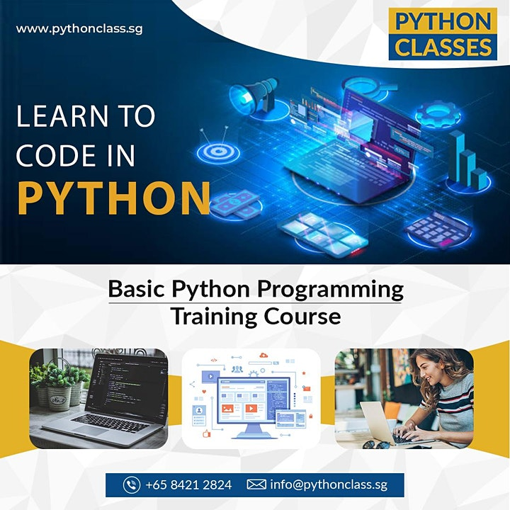 Basic Python Programming Course for Beginners Singapore - Python Classes image