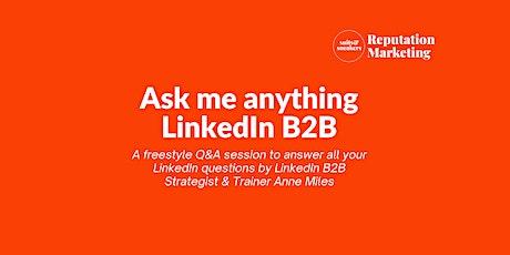 LinkedIn Freestyle Q&A tickets