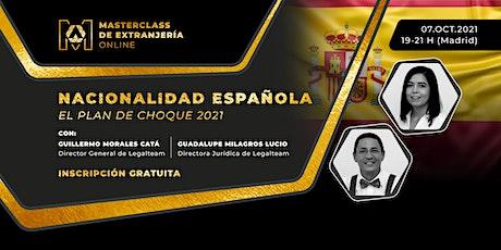 Masterclass de Extranjería Online: Nacionalidad Española entradas