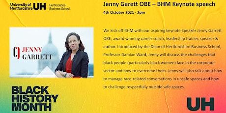 Black History Month Keynote Speech by Jenny Garett OBE tickets