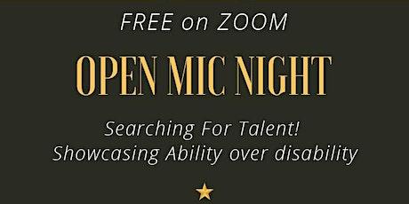 Open Mic Night,  Oct 2nd. tickets