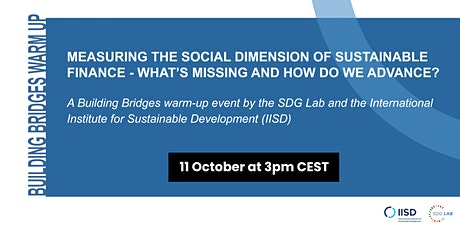 Data workshop: Measuring the social dimension of sustainable finance tickets