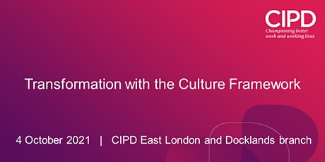 Transformation with the Culture Framework tickets