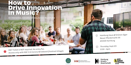How to Drive Change & Innovation in Music? Expert Roundtable - RBF 2021 Tickets