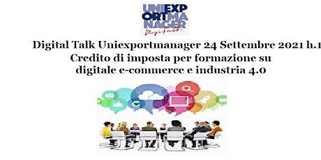 Credito di imposta per formazione su digitale e-commerce e industria 4.0 tickets