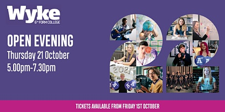 Wyke Sixth Form College Open Evening - Thursday 21st October tickets