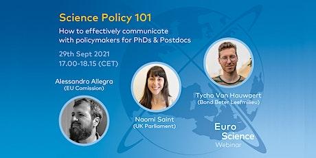 Science Policy 101 Webinar tickets