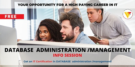 Info Session | DATABASE administration /management BOOTCAMP tickets
