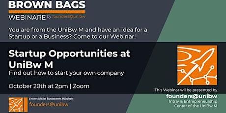 Brown Bag Webinar: Startup Opportunities at UniBw M tickets