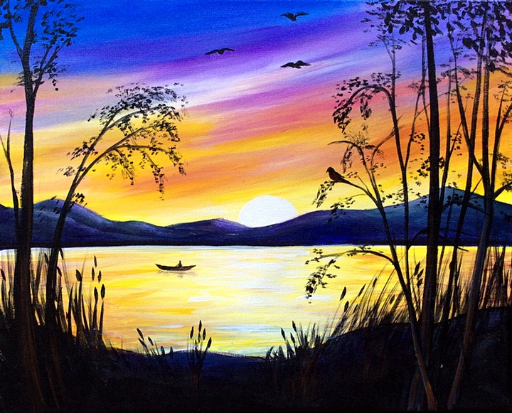 ONLINE Paint Along @ Home -- Sunset image