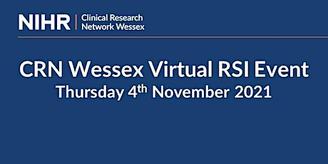 CRN WESSEX VIRTUAL RSI EVENT - 4th November 2021 tickets