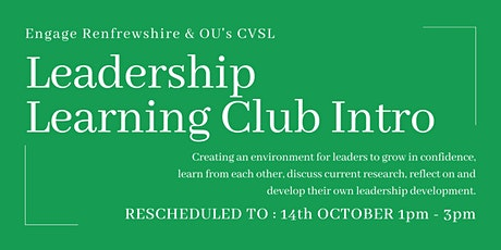 Leadership Learning Hub - Introductory Session (RESCHEDULED) tickets