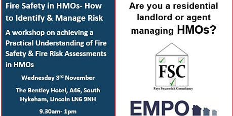 Fire Safety in HMOs- How to Identify and Manage Risk Workshop tickets