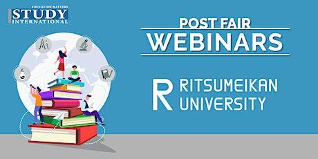 Post-Fair FREE Webinar: Ritsumeikan University tickets