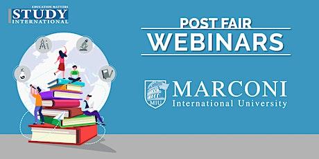 Post-Fair FREE Webinar: Marconi International University tickets