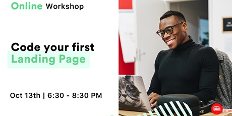 Webinar - Code Your First Landing Page tickets
