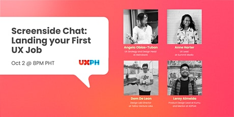 Screenside Chat: Landing Your First UX Job tickets