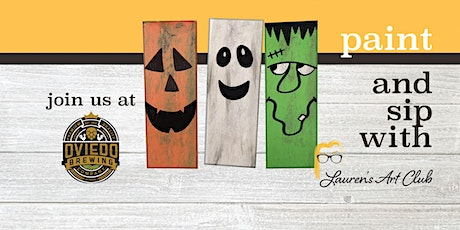 Oviedo Brewing Company - DIY Paint & Sip - Wood Halloween Characters tickets