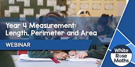 **WEBINAR** Year 4 Measurement: Length, Perimeter and Area - 18.10.21 tickets
