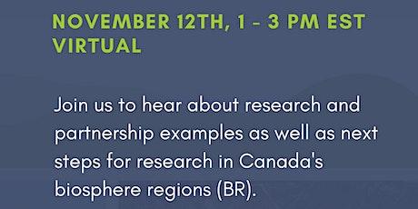 Research in Canadian Biosphere Regions tickets