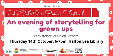 An evening of storytelling for grown ups with Helen Stewart tickets