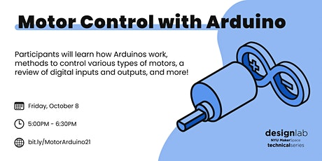 Motor Control with Arduino tickets