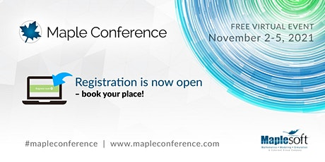 Maple Conference 2021 tickets