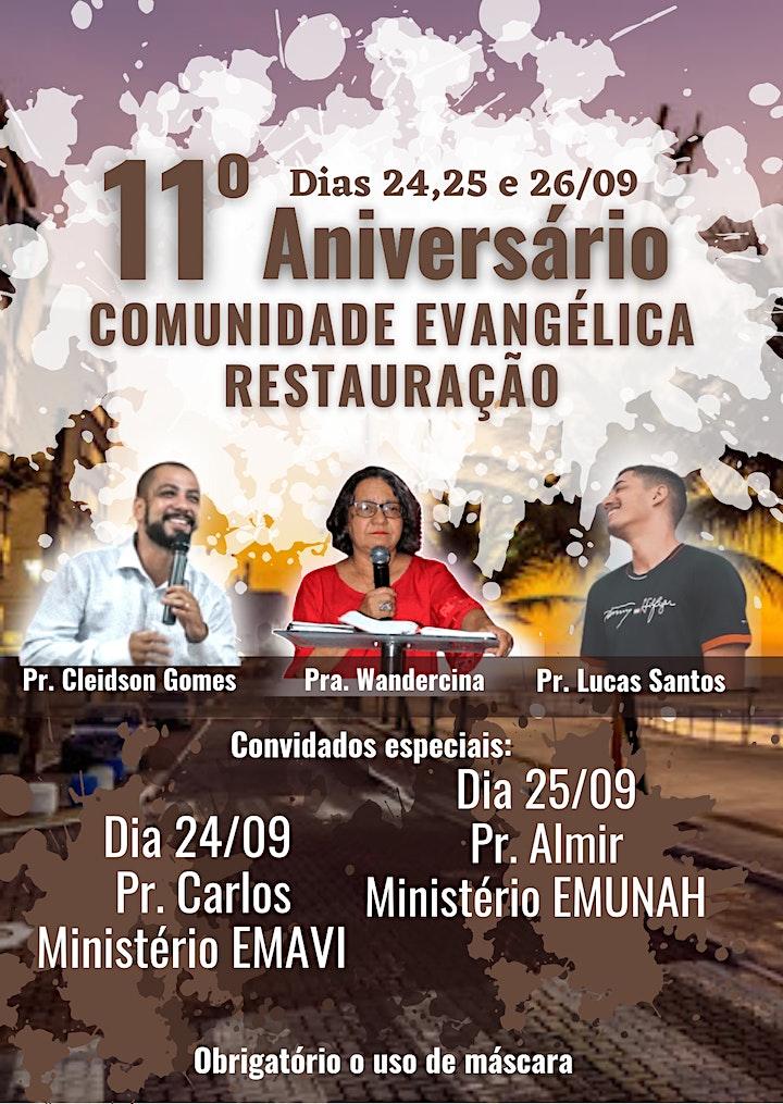 Imagem do evento 11° Aniversário Comunidade Evangélica Restauração