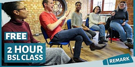 FREE British Sign Language (Beginner) Taster Session tickets