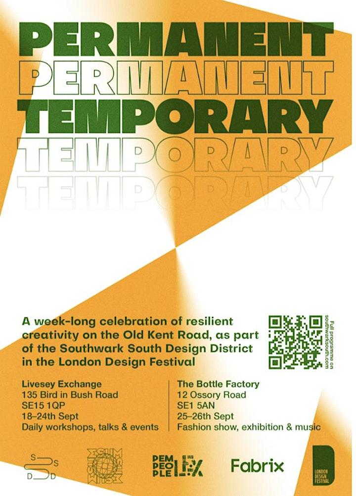 PERMANENT TEMPORARY - London Design Festival / Southwark Design District image