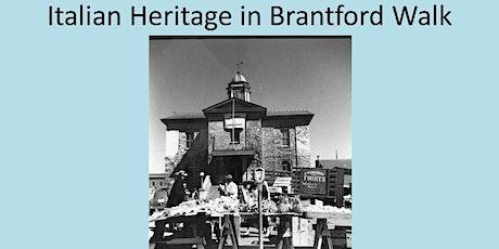 Italian Heritage in Brantford Walk tickets