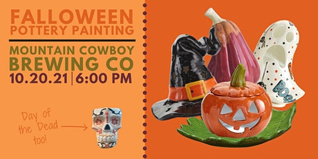 Falloween Pottery Painting at Mountain Cowboy Brewing tickets