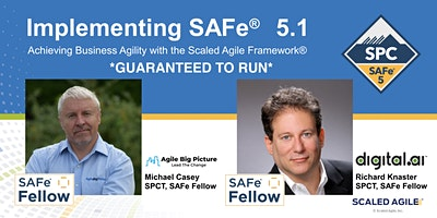 *GUARANTEED TO RUN* Implementing SAFe® with SPC Cert – Nov 15th REMOTE EST