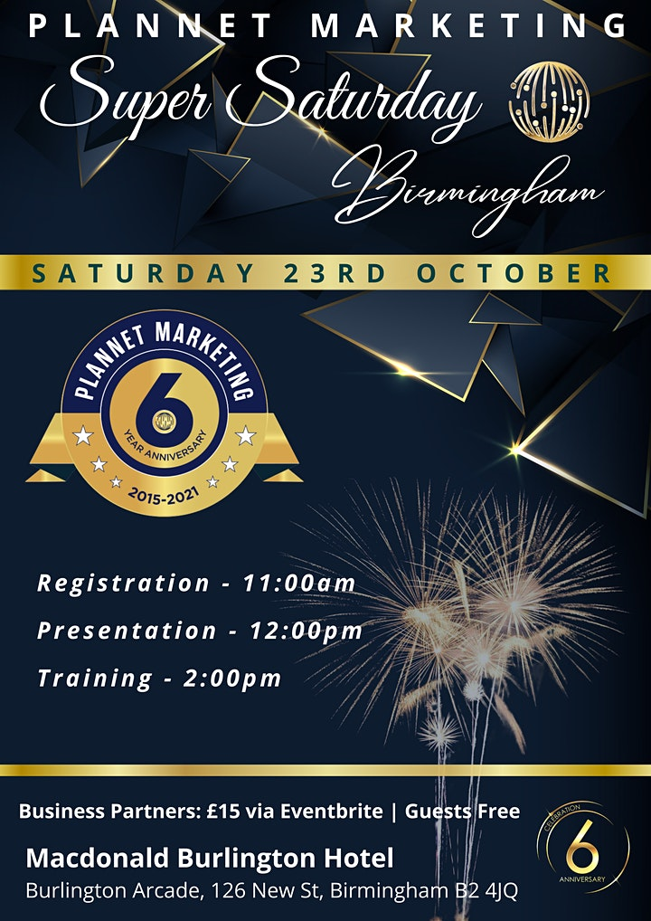 PlanNet Marketing's  6 Year Anniversary Event : Birmingham Super Saturday image