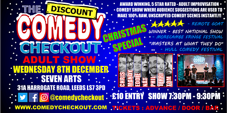 Comedy Night at Seven Arts Leeds - Wednesday 8th December tickets