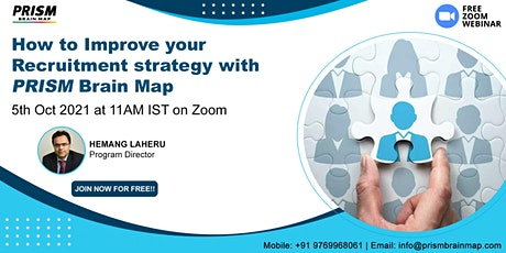 FREE WEBINAR: How to Improve your Recruitment strategy with PRISM Brain Map tickets