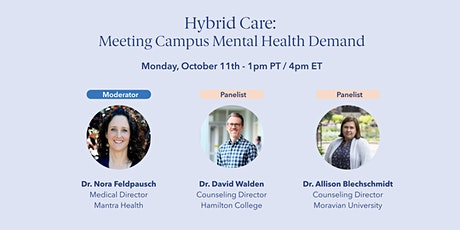[Live] Hybrid Care: Meeting Campus Mental Health Demand tickets