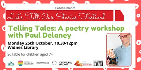Telling tales: a poetry workshop with Paul Delaney tickets