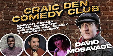 Craic Den Comedy Club - September 29 - David McSavage Headline tickets
