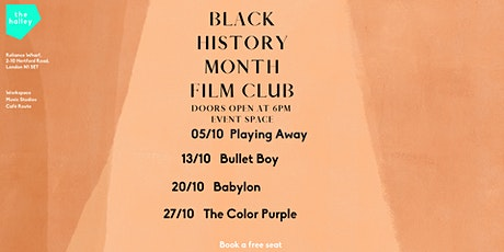 the halley Black History Month Film Club: Playing Away tickets