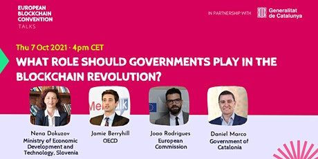 What role should Governments play in the Blockchain revolution? tickets