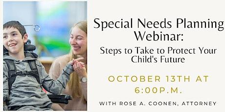Special Needs Webinar tickets