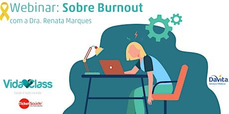 Webinar - Burnout ingressos