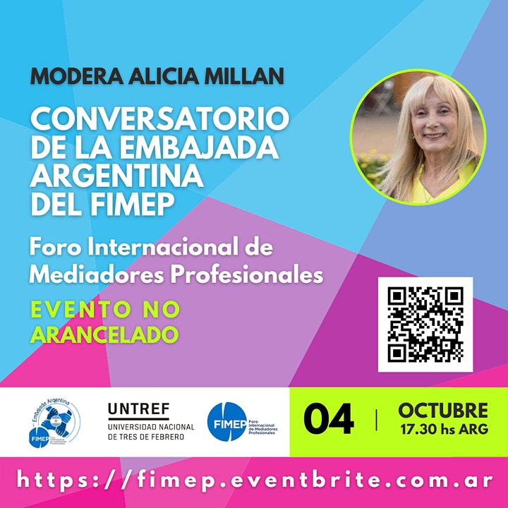 Imagen de Conversatorio de la embajada Argentina del FIMEP