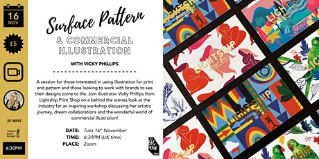 Surface Pattern & Commercial Illustration with Vicky Phillips tickets