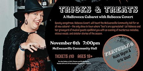 TRICKS & TREATS:  A Halloween Cabaret with Rebecca Covert tickets