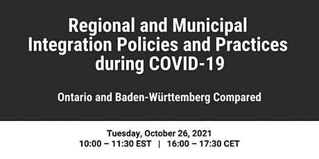 Regional and Municipal Integration Policies and Practices during COVID-19 tickets