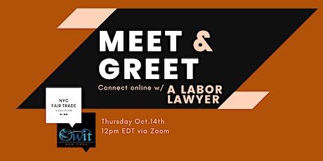 Meet & Greet: A Labor Lawyer tickets