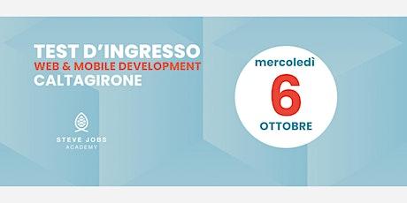 Esame di Selezione al corso di Web & Mobile  Development di Caltagirone biglietti