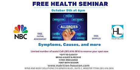 Allergies! Symptoms, Causes, & More…FREE Health Seminar tickets